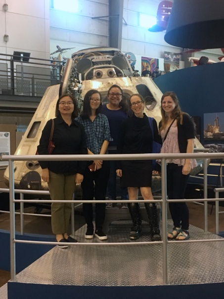 with Apollo 7 at the Frontiers in Flight museum, April 2017