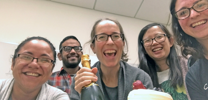 Celebrating the NOA for our first federal grant! (2017)