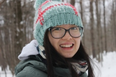 Yiling in snow shoes, Jan 2018.