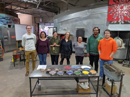 December 2018: glass blowing